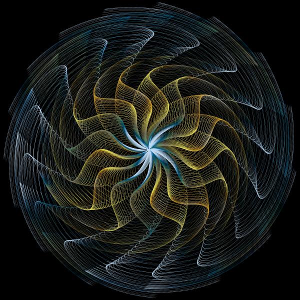 Colorful Wavy Vortex Line Art 3