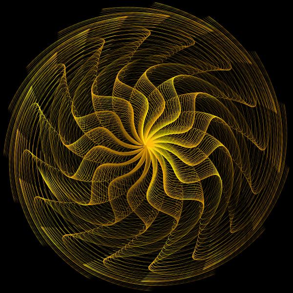 Colorful Wavy Vortex Line Art 4