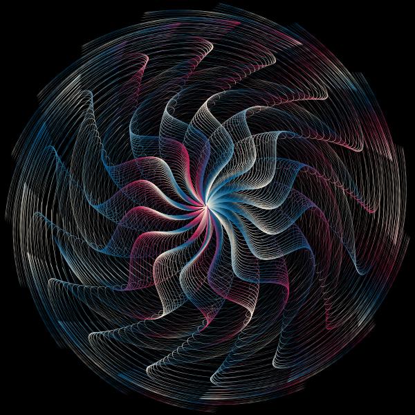 Colorful Wavy Vortex Line Art 5