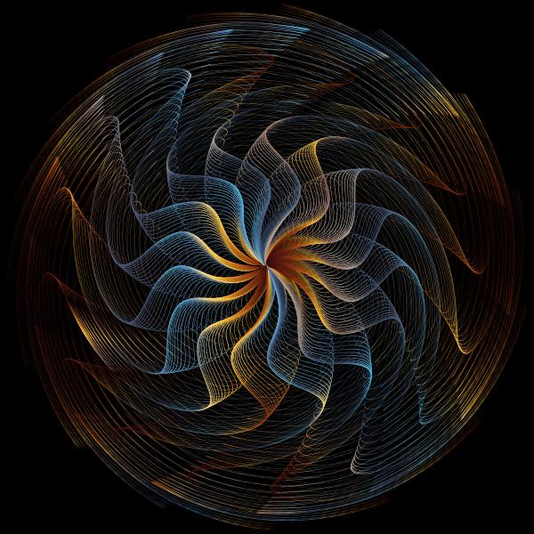 Colorful Wavy Vortex Line Art 6