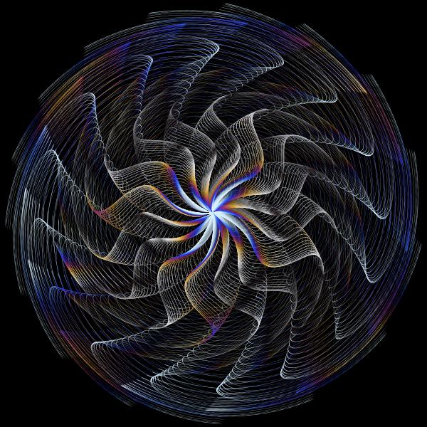 Colorful Wavy Vortex Line Art 7