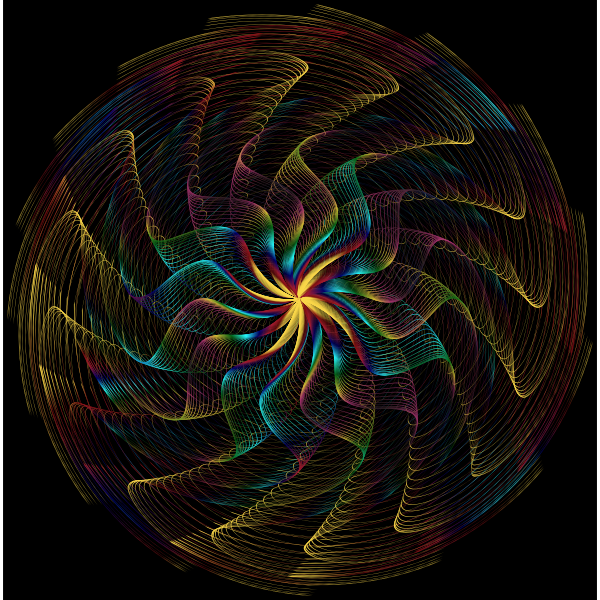 Colorful Wavy Vortex Line Art 8