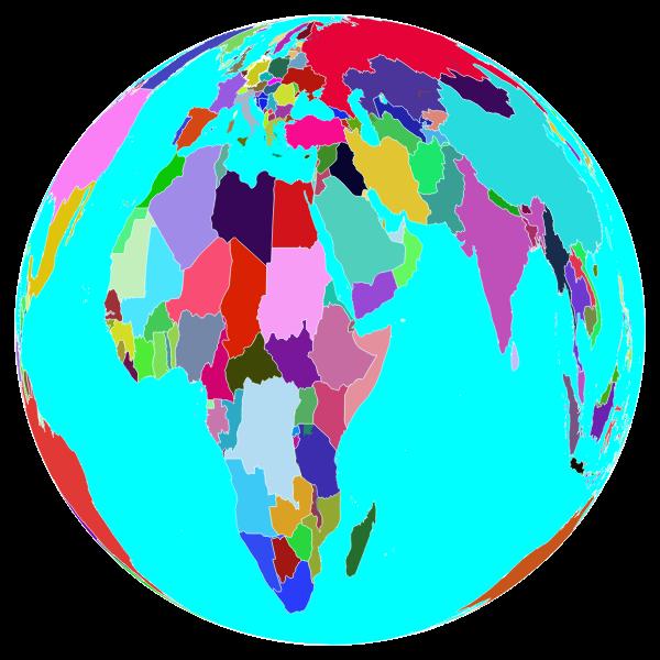 Colorful World Globe