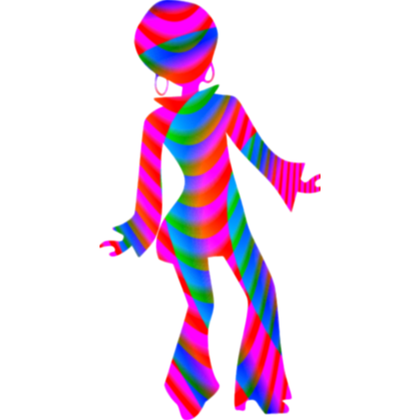 Disco girl silhouette