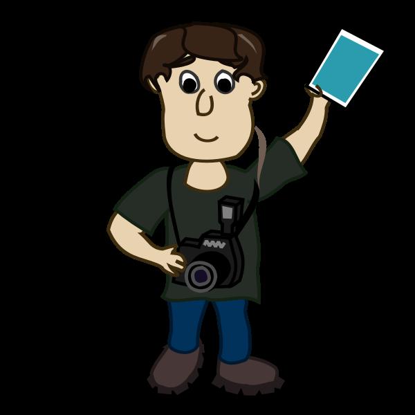 Vector image of boy photographer