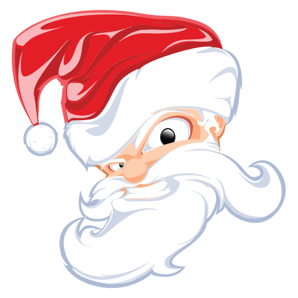 Comical Santa Claus Head