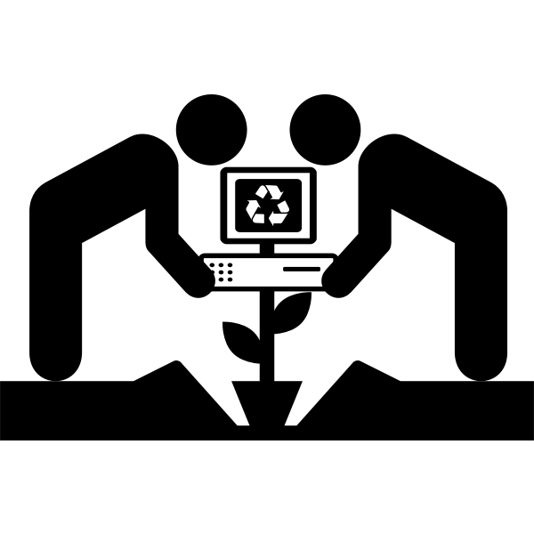 Community technology center - Free SVG