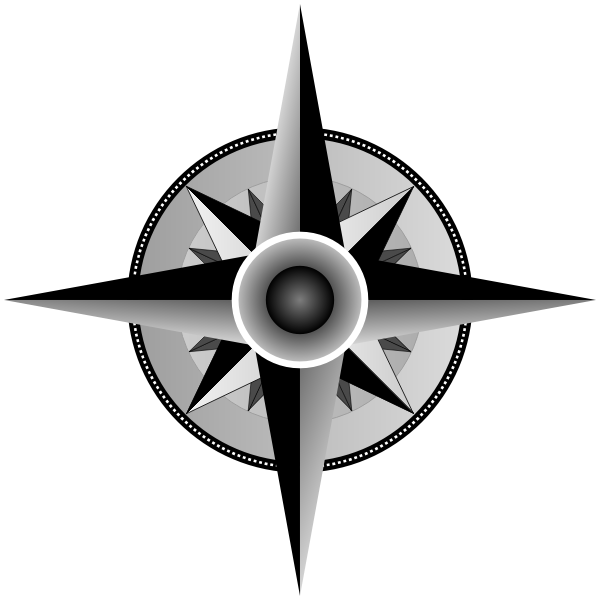 Compass rose vector drawing