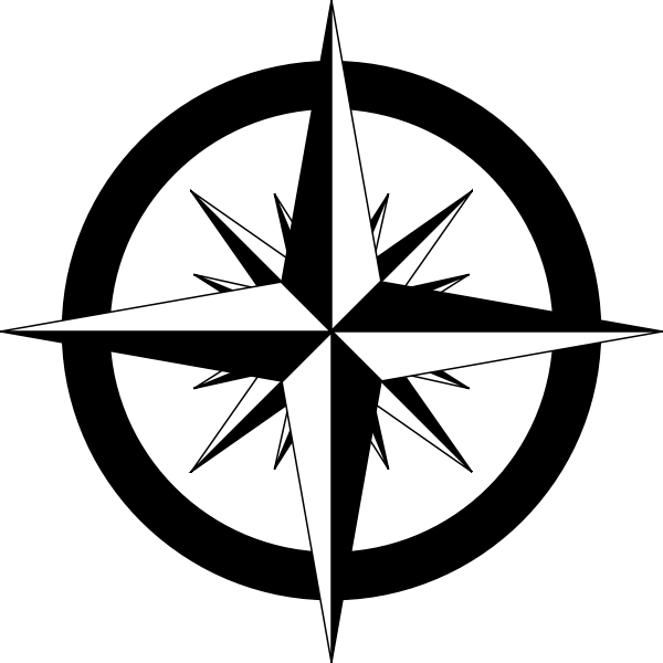 Compass rose vector sketch