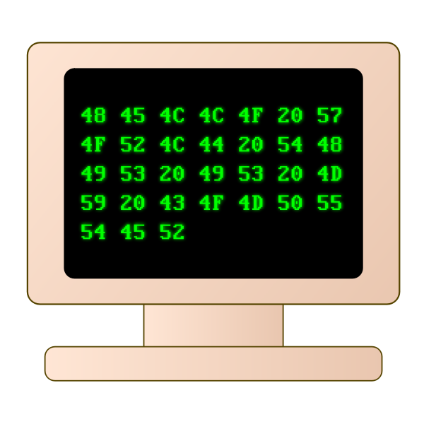 Vector illustration of old style computer screen