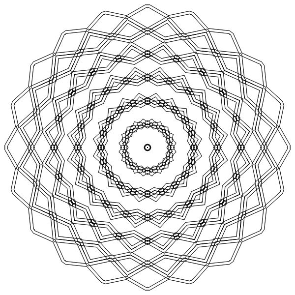 Concentric circular design vector image
