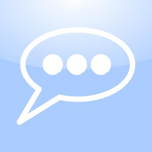 Mac conversation icon vector clip art