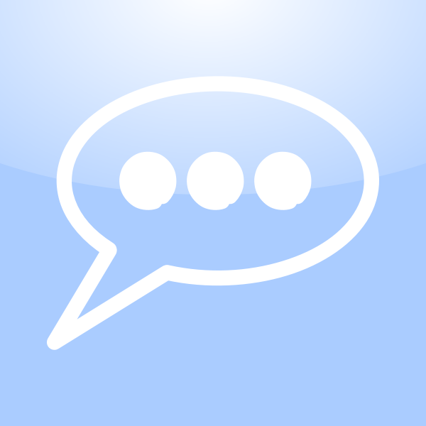 Mac conversation icon vector clip art