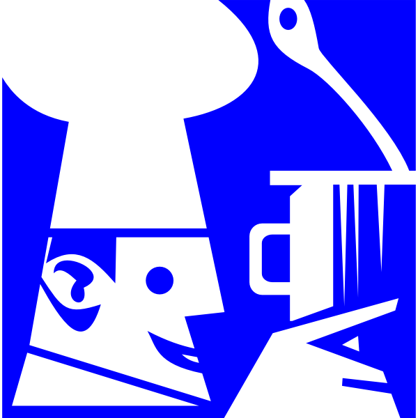 Cooking sign vector clip art