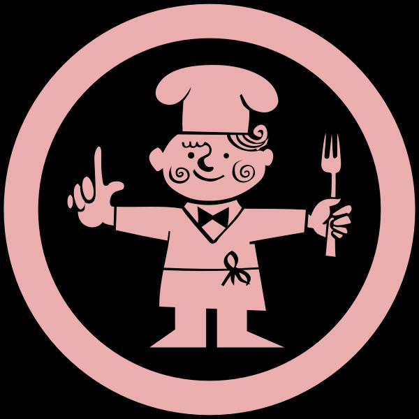 Round restaurant sign vector graphics