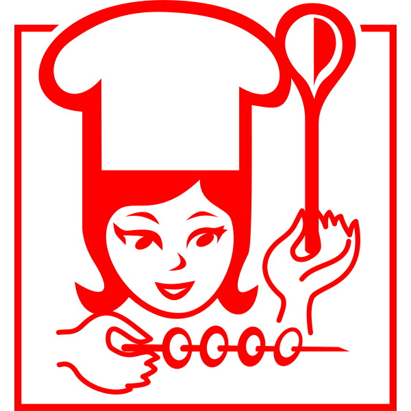Female chef pictogram vector graphics
