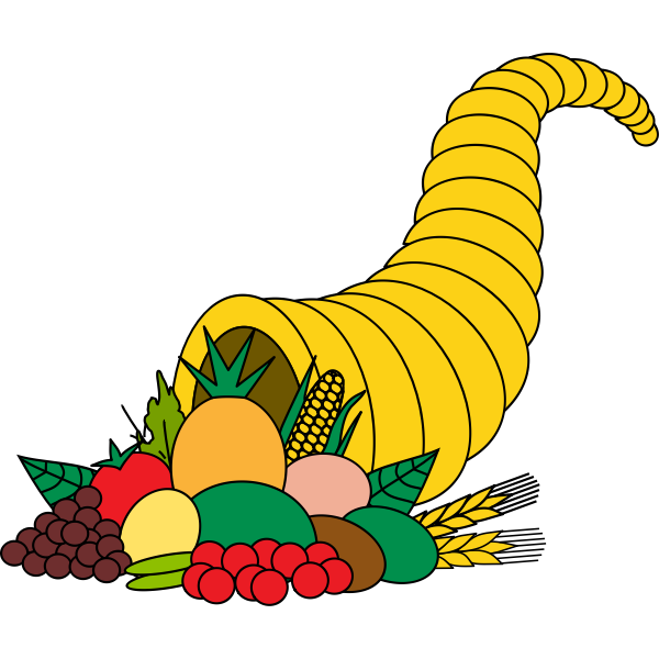 Horn with crops