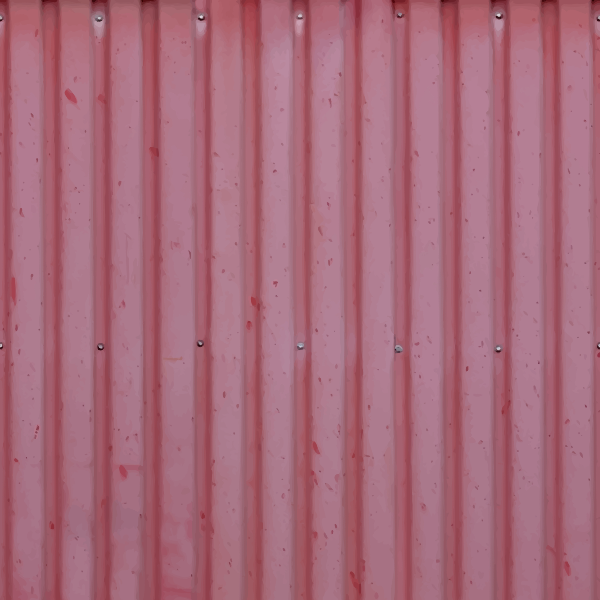Corrugated iron board