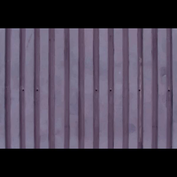 Corrugated metal board