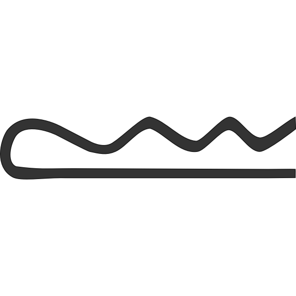 Cotter pin vector drawing