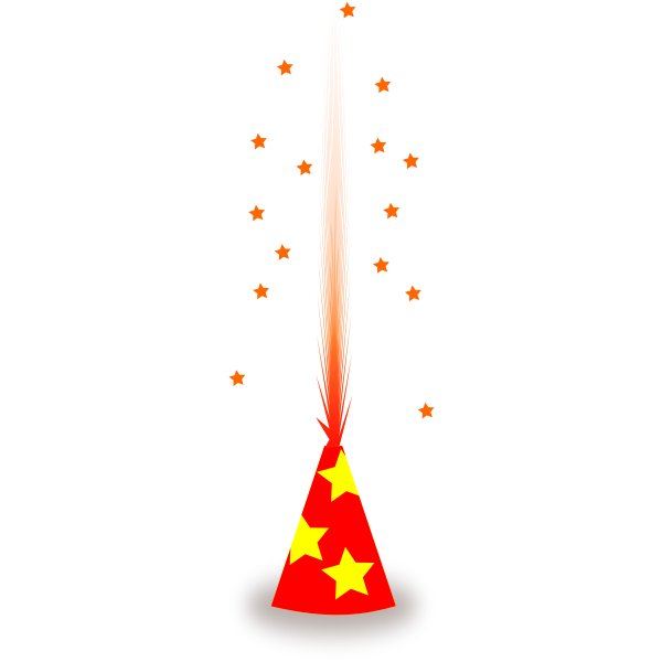 Vector drawing of firecracker