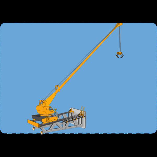 Vector illustration of high crane