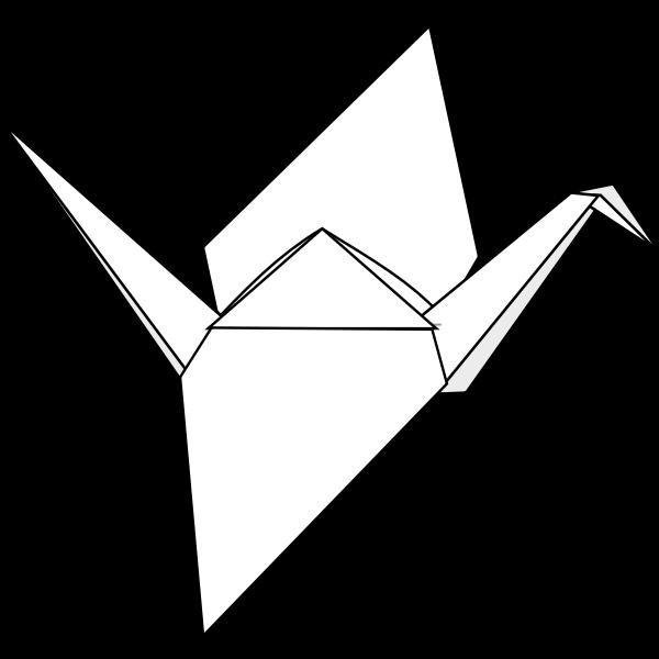 Origami crane vector graphics