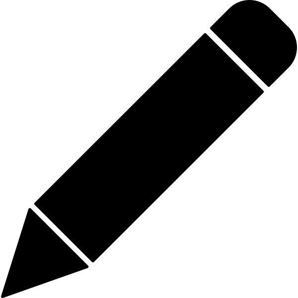 Black crayon pen vector clip art