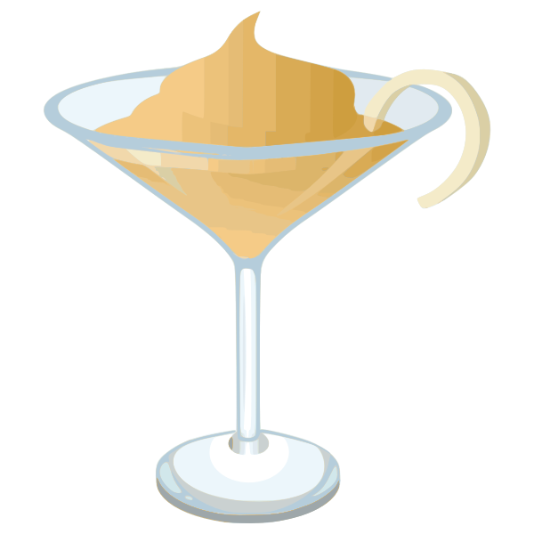 Martini with decoration vector graphics