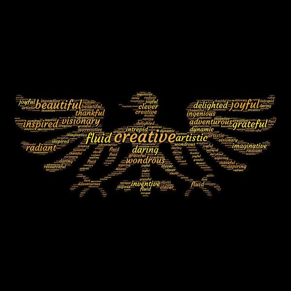 Creative Bird Man Typography