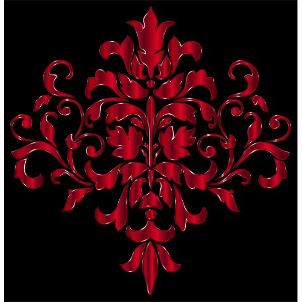 Crimson Damask Design
