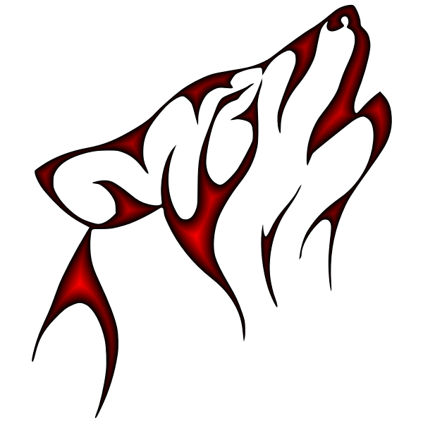 Crimson Tribal Wolf