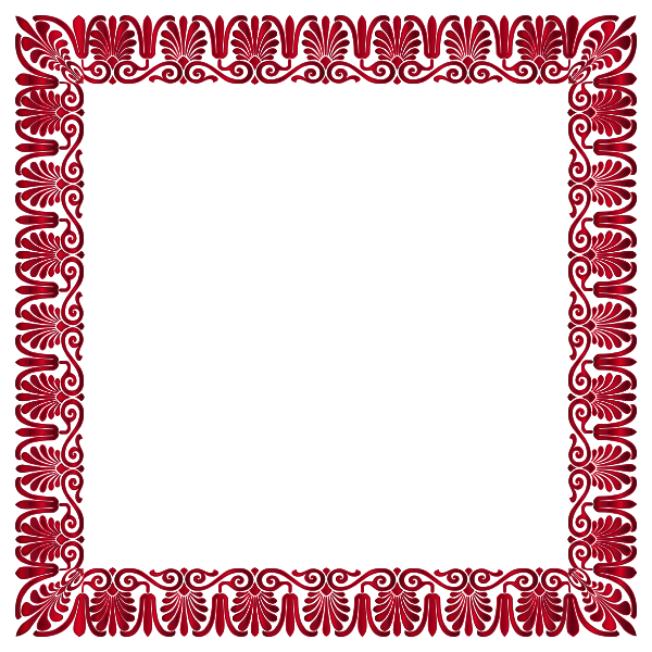 Red decorative frame