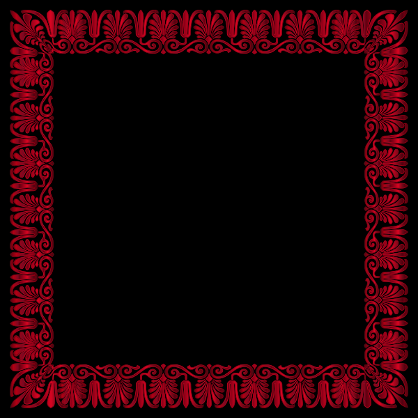 Red and black frame
