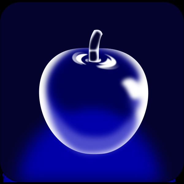 Crystal apple vector drawing