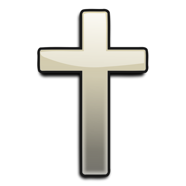 Vector graphics of cross