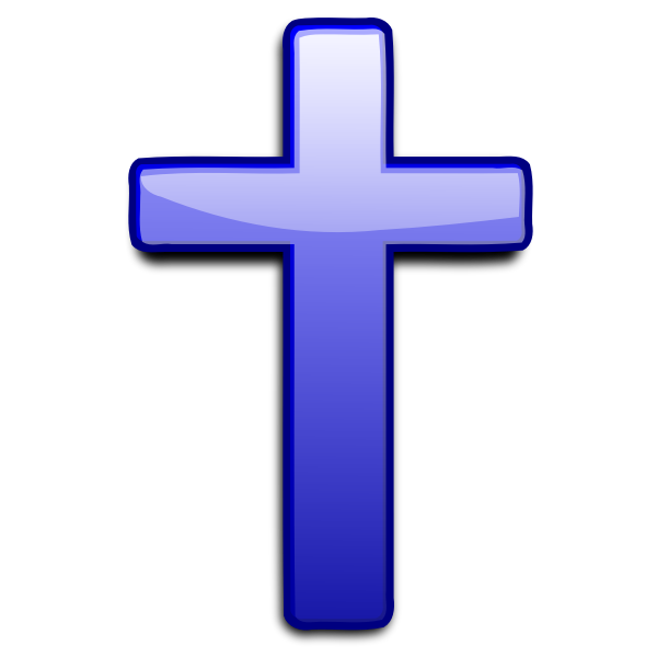 Vector clip art of cross