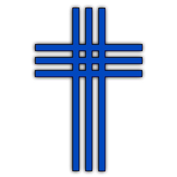 Vector image of crossed stripes