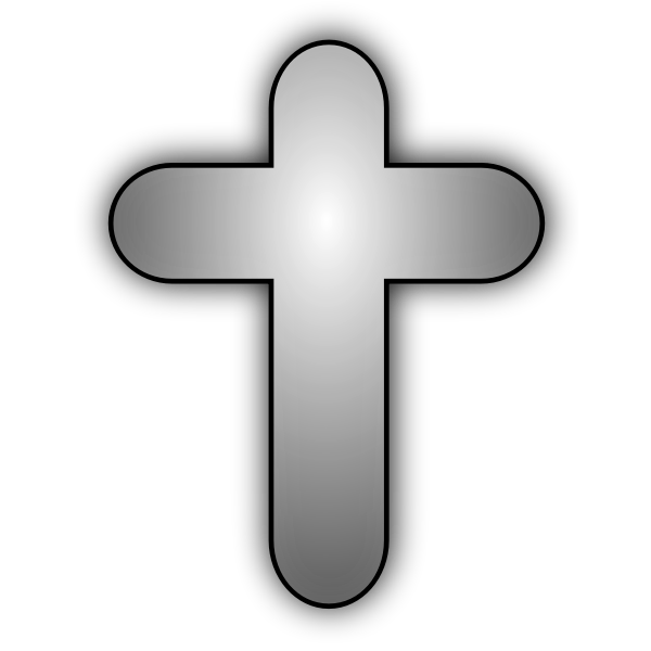 Vector image of Christian cross