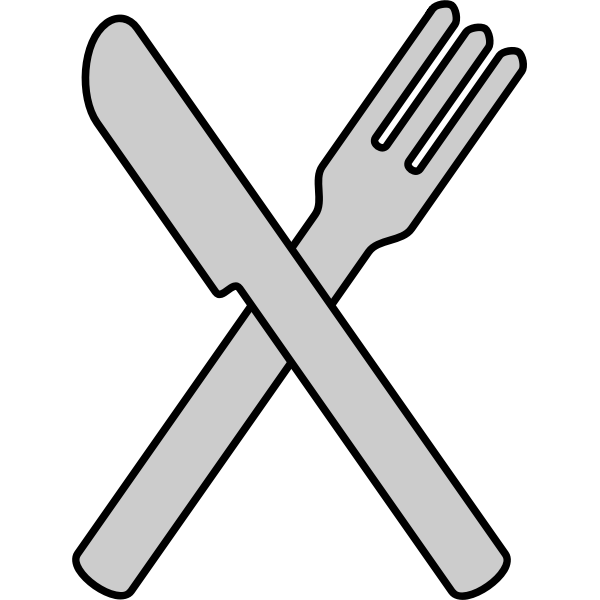 Crossed knife and fork