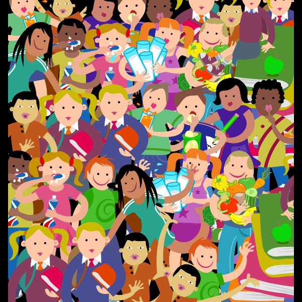 Crowd of kids