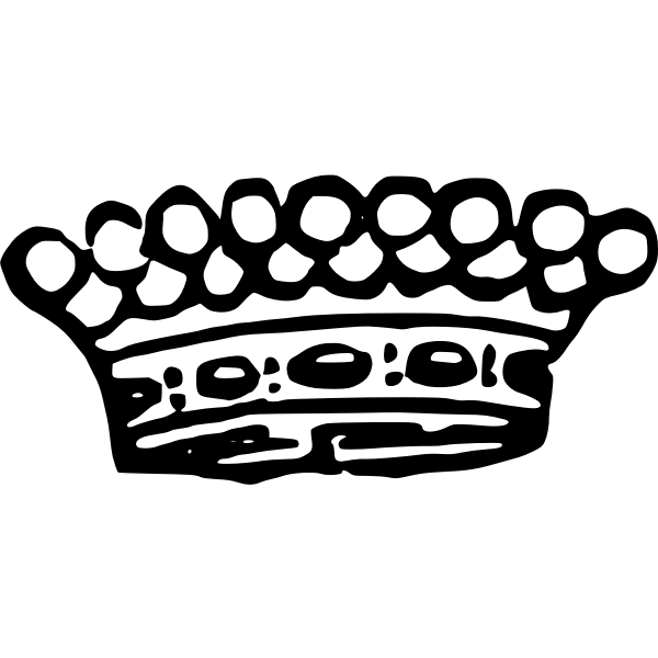 Crown vector drawing
