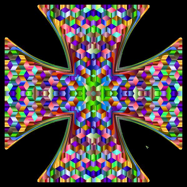 Cubic Chromatic Maltese Cross