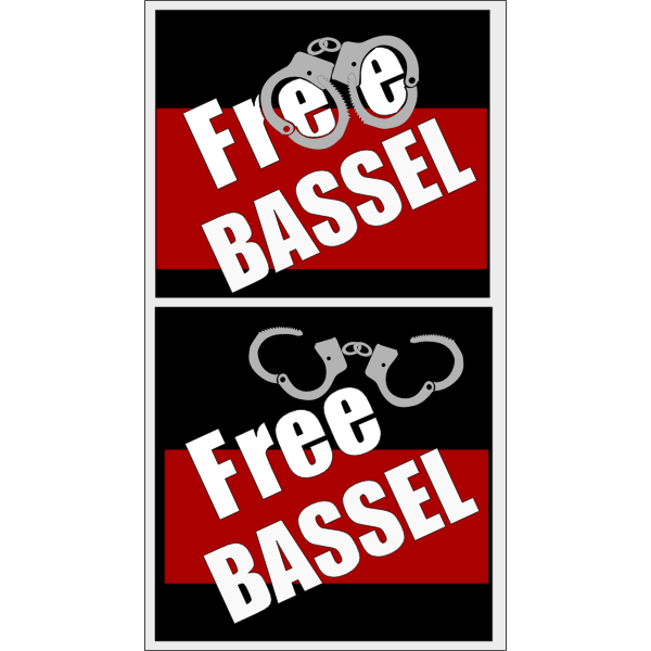 Vector image of Basel captivity and freedom poster