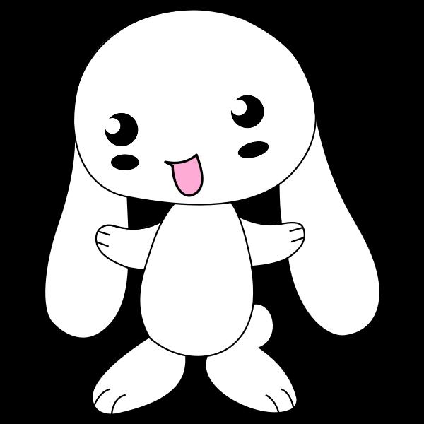 Cute Cartoon Bunny Free Svg
