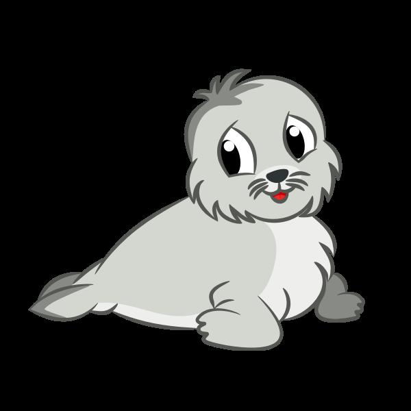 Baby seal drawing