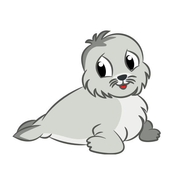 Baby seal drawing