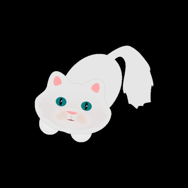 Cute fluffy cat vector graphics