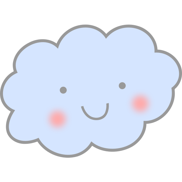 Cute smiling cloud vector drawing