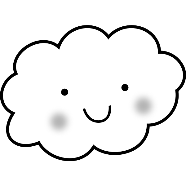 Cute cloud vector drawing